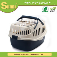 Pet transport box convenient plastic cheap dog kennels
