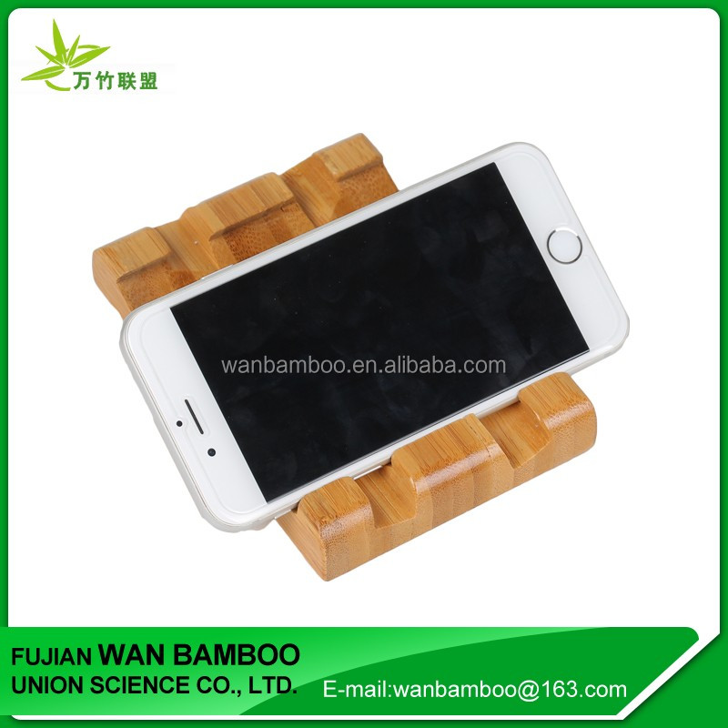 Chinese Factory Supply Bamboo Phone Table Stand for Mobile Phone