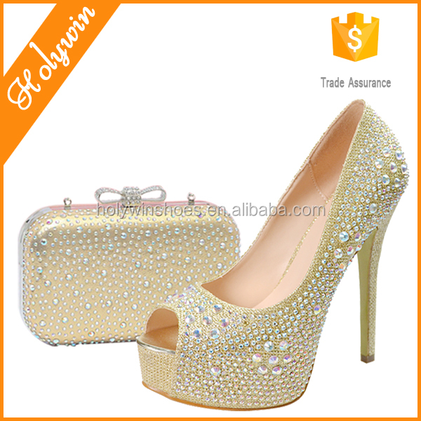 Hot evening shoes with stones,women matching italian shoes and bag set