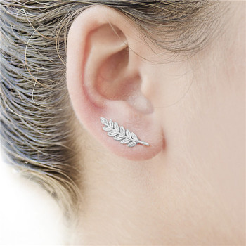 Ear Climbers/ Ear Crawlers Silver Tone Beautiful Earring Designs For Women