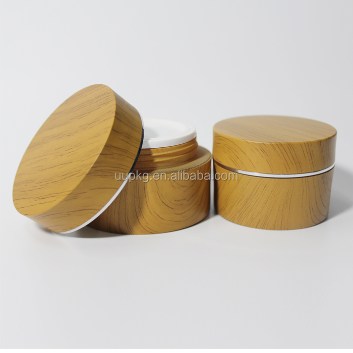 UU packaging 50ml wooden acrylic cosmetic container