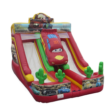 Children Favorite cars largest inflatable water slide,inflatable titanic slide for sale
