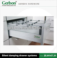 full extension soft closing silent damping drawer systems