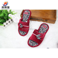 China wholesale lady's cotton open tpr indoor slippers