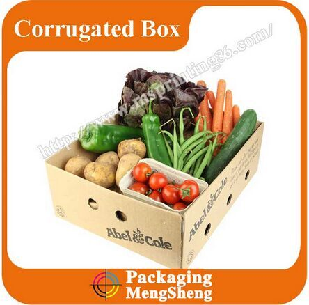 wholesale corrugated cardboard vegetable/fruit box vegetable/fruit packing box