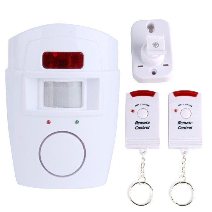 New Motion Sensor PIR Gate Wireless Home Alarm with 2 Remote Controls SV002758