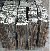 Green slate Culture Stone Wall Decoration Cladding Natural rusty