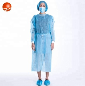 High quality disposable Nonwoven Isolation surgical visitor gown