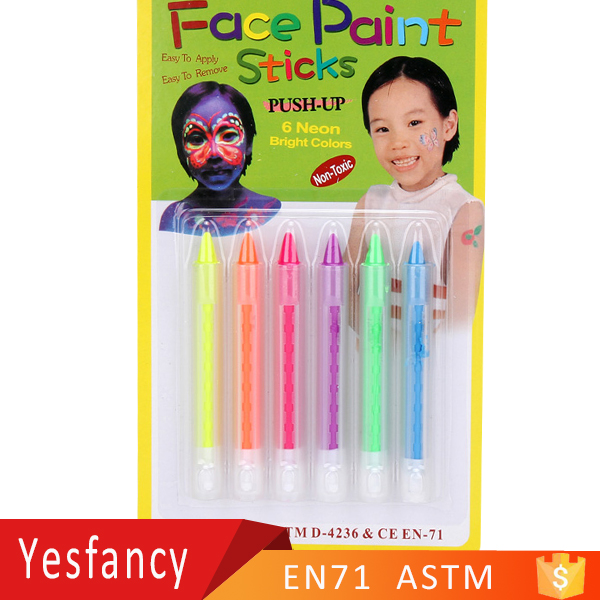 free samples neon bright colors face body paint set make up face paints camo face paint