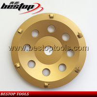 Bestop Hot Sale 5 Inch PCD Diamond Grinding Cup Wheel for Expoxy Floor