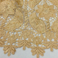 2016 african cord lace with embroidery single colour cord lace fabric