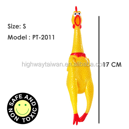 Cute Dog Squeaky Toys Screaming Chicken Toy For Pet Small-Size 17cm