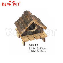 Skillful manufacture wooden hamster home cage for small animal