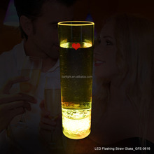 Romantic Valentine Day LED Flashing Cup Yellow Light 300ml Flashing Glass