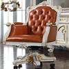 High end classic study room furniture-hand carved chair furntiure