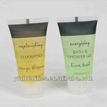 hotel transparent tube disposable shampoo with vitamin E wholesale