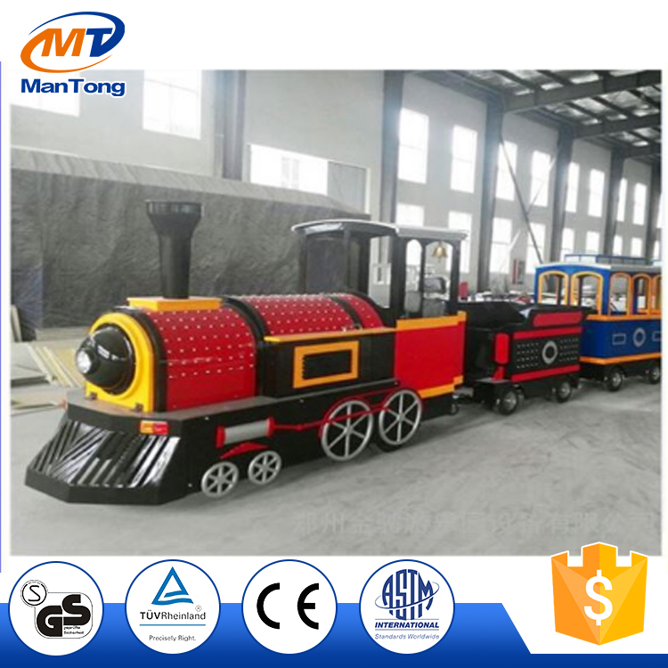Outdoor Amusement Park Electric Trackless Train Kids Road Train For Sale