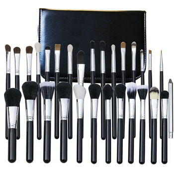 29pcs black silver make up brushes professional cosmetic set brushes make up