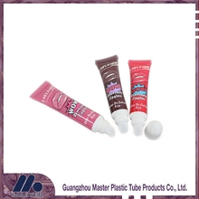 Factory high quality colorful plastic lip glosstube packaging and cosmetic lipstick tube wiht applicator
