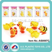 6 Style plastic mini chicken/duck/bee toy wind up animal