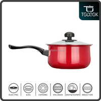 Red Enamel Cast Iron Non-stick Induction Sauce Pot and Mini Milk Pot with best price