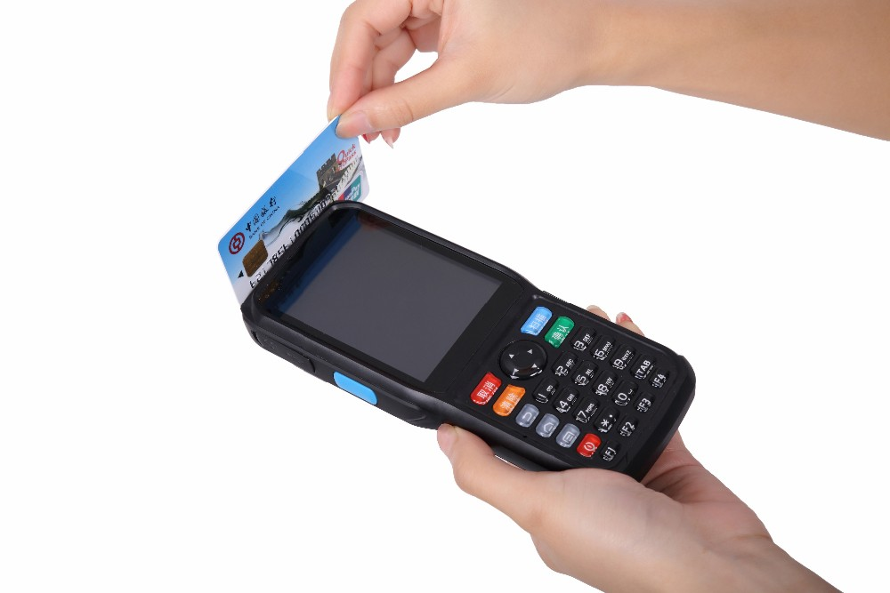 Handheld Smart Point of Sales/ POS with laser barcode scanner wifi SIM card bluetooth printer P6000
