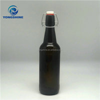 500ml amber glass beer bottle with swing top