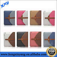 Classical Old Fashion PU Leather Folio Stand Case with Belt Clip For iPad air
