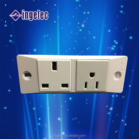 new design one uk,one us standard wall socket outlet