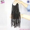 Afro kinky curly human hair weft 100% virgin afro human hair extensions