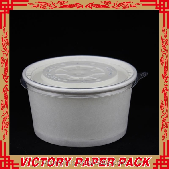 hot disposable paper microwave 8oz soup cup and disposable soup cup with beautiful logo