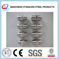 304,316,316Lstainless steel thread fittings hex nipples