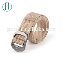 High Quality Fashion Woven Nylon Man Sport Belt with OEM Alloy Buckle
