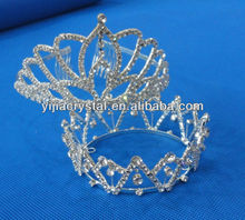 Cheap Round Pageant Crystal Hair Crown for wedding