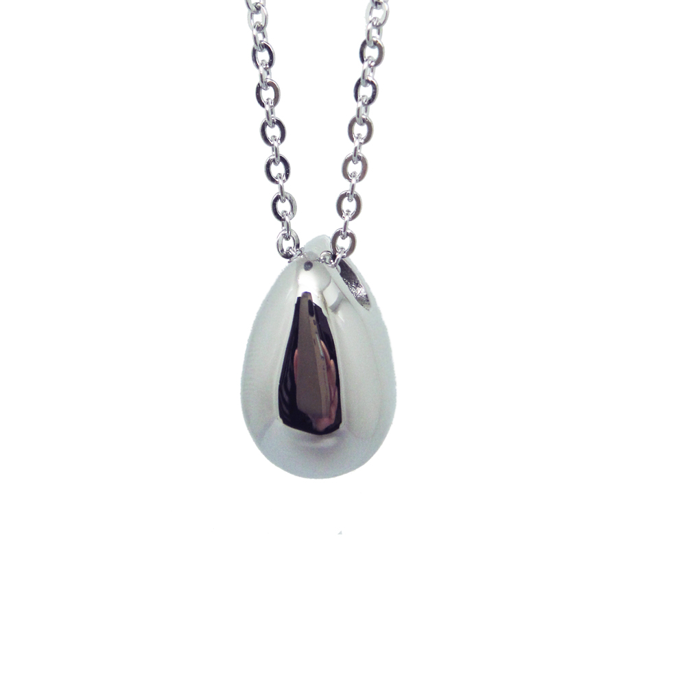 High polish stainless steel drop shaped american indian cremation jewelry