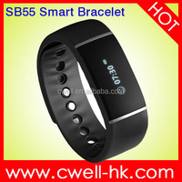Hot CW-S55 IP57 Waterproof Bluetooth bracelet, smart bracelet with G-sensor Health Management Programmable, bracelet 2015