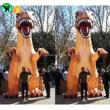 Hot Sale Advertising Animal Inflatable Cartoon 5m Giant Dinosaur Inflatable Customized Yellow Inflatable Dinosaur /T-REX A818