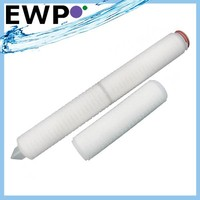 Pleated membrane cartridge filter