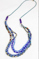Fashion Jewelry Blue Crystal Beaded Long Necklace Hot sale in 2016