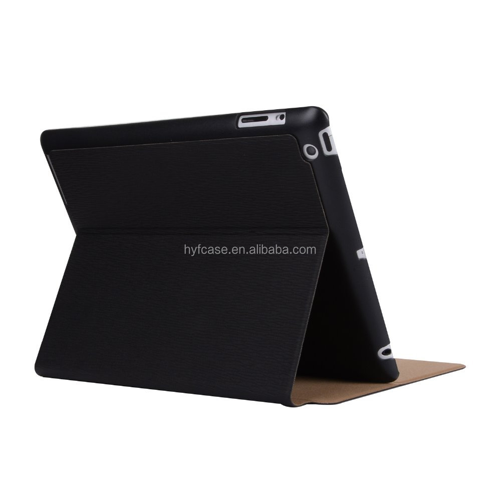 Ultra slim magnetic PU Leather case smart cover for IPAD 2/IPAD 3/IPAD4