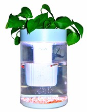 Free sample round aquarium tank price with LED/Water pump coffee table acrylic oval aquarium