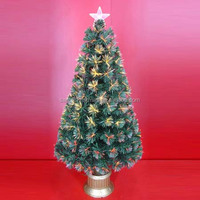 Fiber Optic Lighted Artificial Christmas Trees