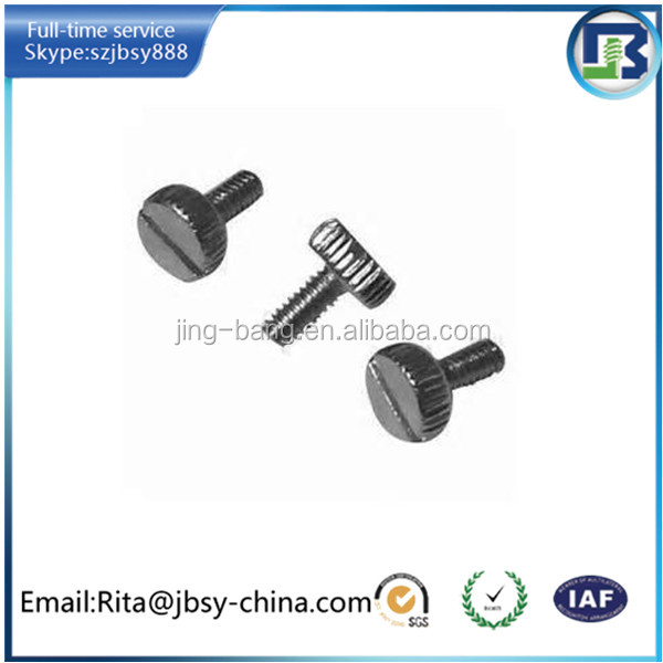 high quality m4 steel knurled head thumb screw