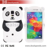 Cute 3D Panda Cartoon Pattern Design Soft Silicone Case for Samsung Galaxy S5 I9600 G900