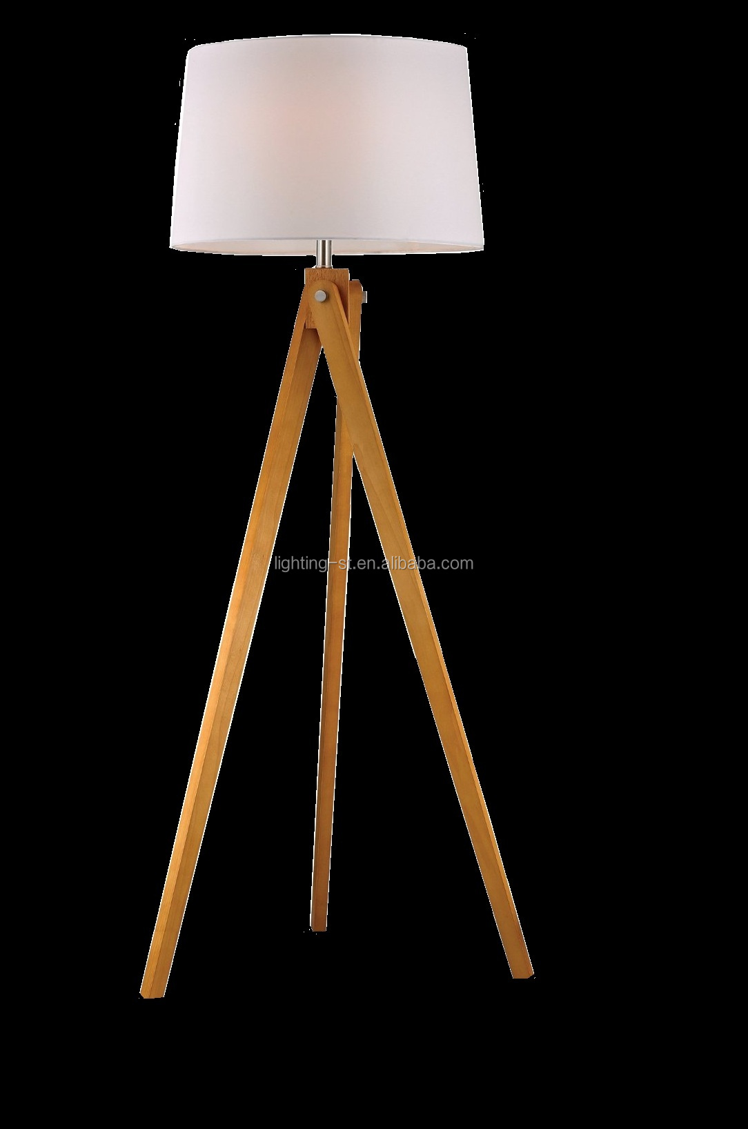 Wooden Tripod Natural Wood Tone Floor Lamp LDMD-FL2469