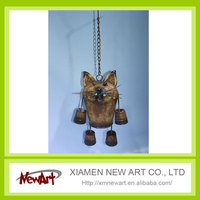 Metal cat hanging decor aluminium metal wall art