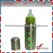 Stainless steel baby feeding bottle