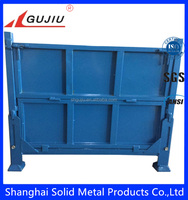 heavy duty foldable collapsible steel sheet storage container