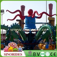 Outdoor Amusement Family Rides Rotary Octopus Theme Park Games Machine Big Octopus for Sale