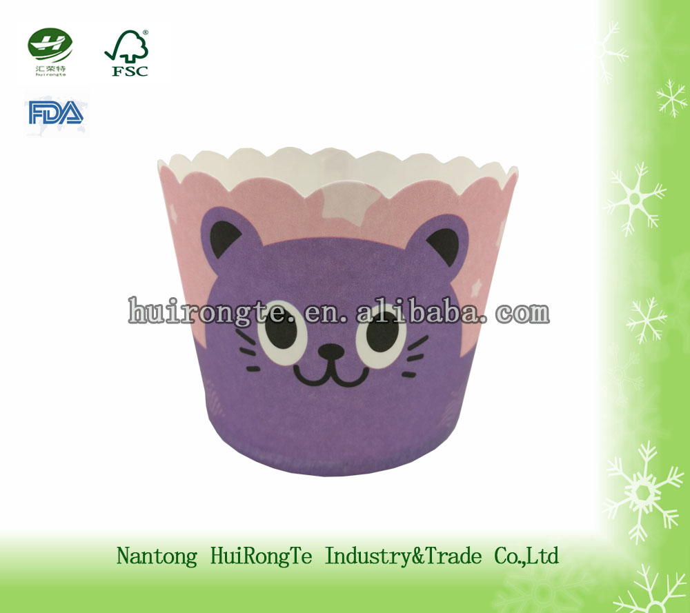 Disposable printed muffin paper cup